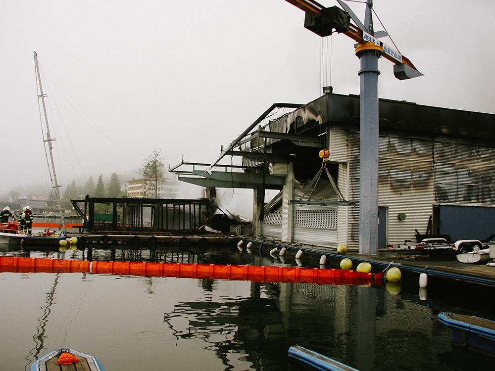 2009: Brand der Schmalzl Werft in Velden