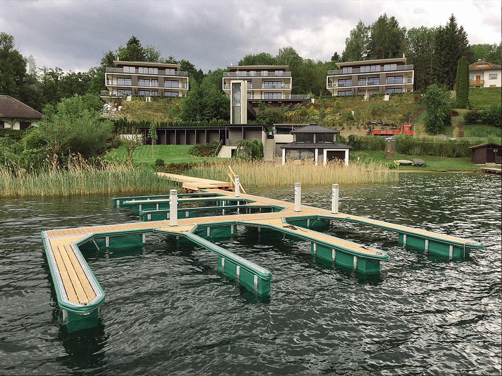Schwimmstegsystem am Wörthersee