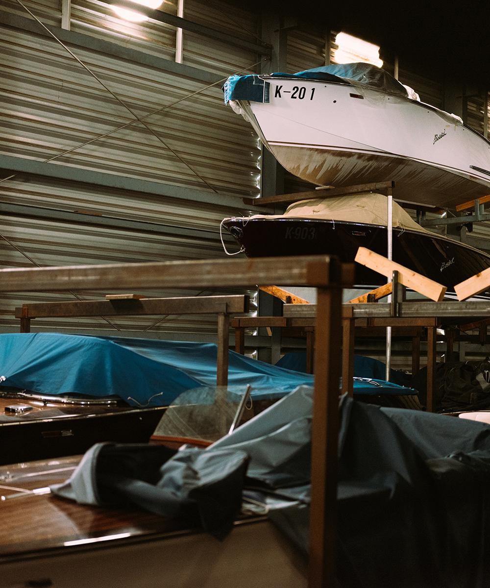 Ein- und Auslagerung von Booten am Wörthersee