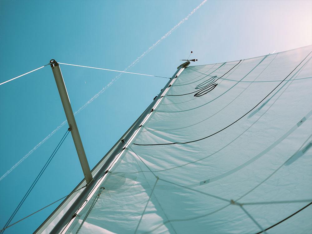 Segel und Wartungsreparatur für Boote